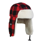 Czapka uszatka Eiger Fleecer Korean Hat Red S/M