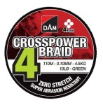 Plecionka DAM Crosspower 4-Braid 0.10MM 4,5KG/10LB/110M - Green