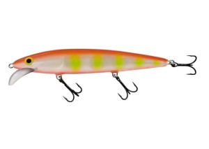 Wobler SALMO WHACKY YELLOW ZEBRA ORANGE 12cm/10g floating
