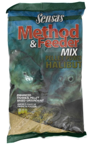 Zanęta do metody Sensas METHOD MIX PELLET POWER HALIBUT 1kg