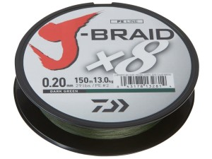 Plecionka Daiwa J-Braid 150m 0,10mm Dark Green