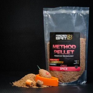 Method Pellet Feeder Bait Spice Chilli 2mm 800g