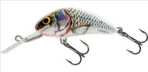 Wobler Salmo Hornet- Silver White Shad- 2,5cm/1,5g- Tonący