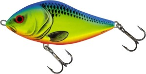 Wobler Salmo Slider- Chartreuse Blue- 5,0cm/8,5g- Tonący