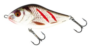 WOBLER SALMO SLIDER SD12S WOUNDED REAL GREY SHINER