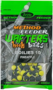 Kulki Method feeder Przynęta Lorpio Hook Baits Wafters 10 Pineapple