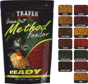 Zanęta Traper Method Feeder Ready Halibut Czerwony 750g