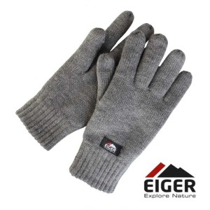 Rękawiczki ocieplane Eiger Knitted Glove whit 3m Thinsulate Lining Grey roz. XL