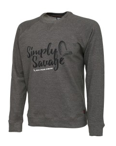 Sweter Savage Gear Sweater Melange Grey L