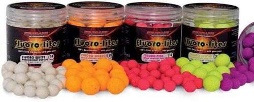 Kulki Starbaits Fluoro Lite Pop Up 14mm Yellow 80g